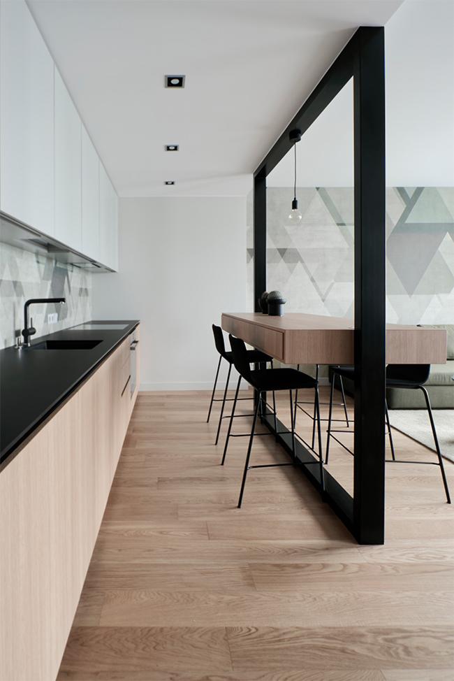 Jaunatviškas minimalizmas - privataus interjero projektas - 10