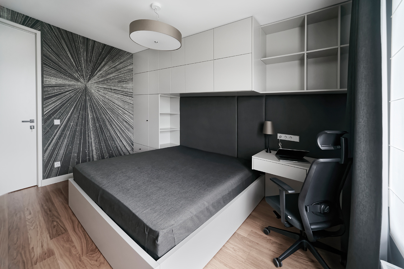 Jaunatviškas minimalizmas - privataus interjero projektas - 2