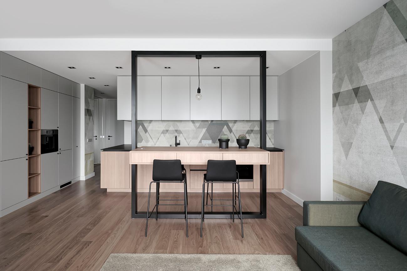 Jaunatviškas minimalizmas - privataus interjero projektas - 3