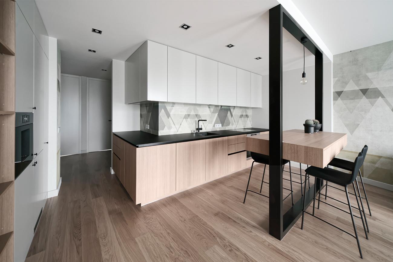 Jaunatviškas minimalizmas - privataus interjero projektas - 4